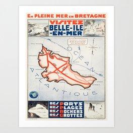 Vintage poster - Belle ile en Mer Art Print