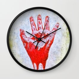 """The Red Hand"" Wall Clock"