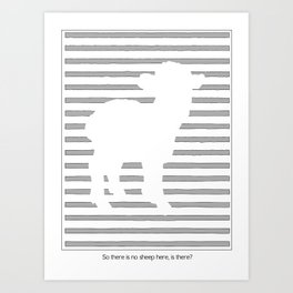 Scanner Darkly Sheep Art Print
