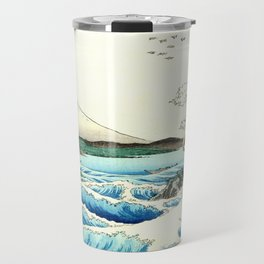 The Great Wave. The Sea At Satta Travel Mug
