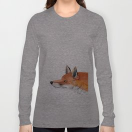 Red fox portrait Long Sleeve T-shirt