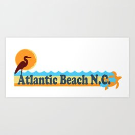 Atlantic Beach - North Carolina. Art Print