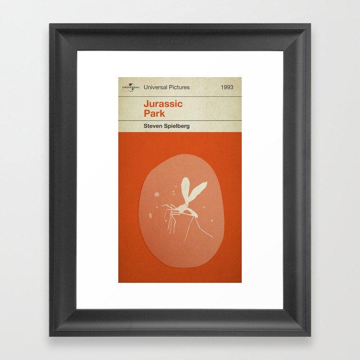 Jurassic Park, if it were a Penguin Book. Framed Art Print