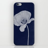 blueprint iPhone & iPod Skins featuring Poppy Blueprint by I Am Kimberley Ann