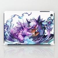 gengar iPad Cases featuring Nidorino vs Gengar by Sa-Dui