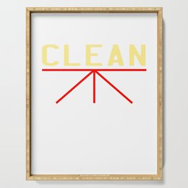 "A simple ""Clean Body, Planet, Conscience"" T-shirt Design for Clean Pure Stainless Fresh People Serving Tray"