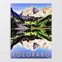 Colorado Mountain Art Mixed Media Poster