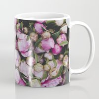 peonies Mugs featuring Peonies by Julia Dávila-Lampe