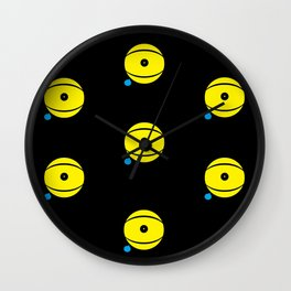 lazy eye Wall Clock
