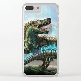Godzilla VS. Atomic Rex Clear iPhone Case