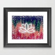 little lotus Framed Art Print