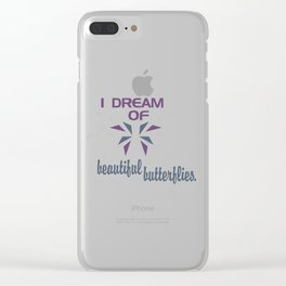 Beautful Butterflies Clear iPhone Case