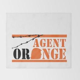 Agent Orange Throw Blanket