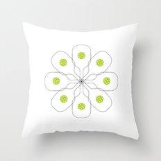 Pickleball Paddle Ball Pattern Throw Pillow