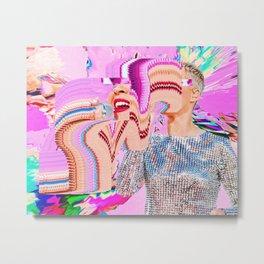 Katy Glitch Metal Print