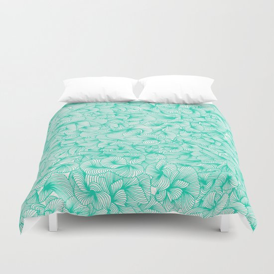 Knee-Deep in Turquoise Ink Duvet Cover