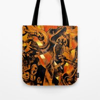 band Tote Bags featuring band by borma toyen