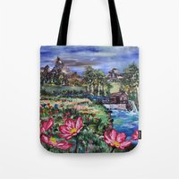 serenity Tote Bags featuring Serenity by Art of Leki