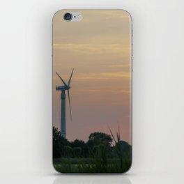 ad solis occasum ventus turbines ab Horumersiel iPhone Skin