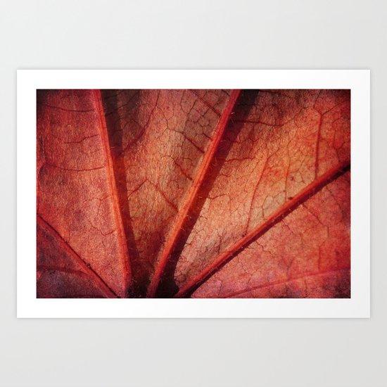 leaf abstract Art Print