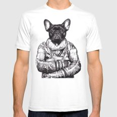 Astro Frog White Mens Fitted Tee MEDIUM