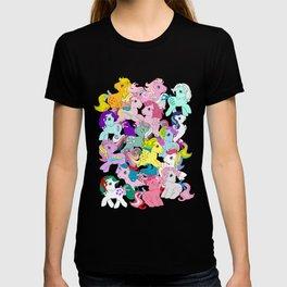 G1 my little pony pattern T-shirt