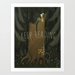 ecologist's daughter Art Print