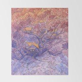 Enchanted Treehouse Throw Blanket