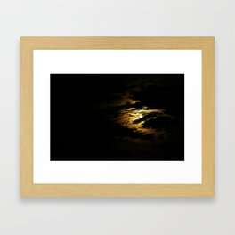 Clouded Moon Framed Art Print