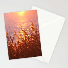 Lake sunset Stationery Cards