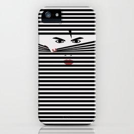 Peeking Man (White) iPhone Case