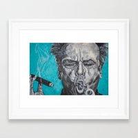 jack nicholson Framed Art Prints featuring Jack Nicholson by Lisa Cunningham Art