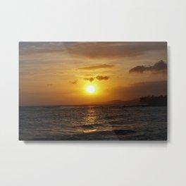 Hawiian Sunset on Kauai Metal Print