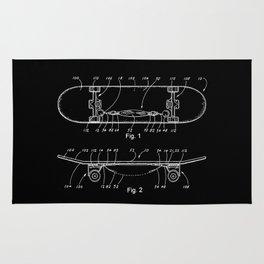 Skateboard Schematics Rug