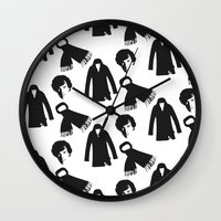 benedict cumberbatch Wall Clocks featuring Sherlock Benedict Cumberbatch by Zharaoh