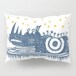 rhinoceros stares into the stars Pillow Sham
