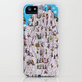 Bubble climbing iPhone Case