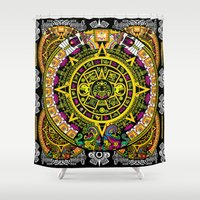 fabric Shower Curtains featuring Fabric Pattern by Eduardo Doreni