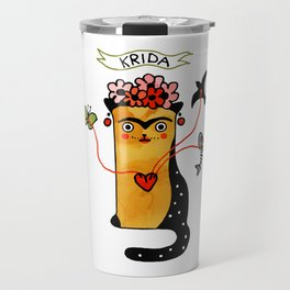 Krida Art Cat – Famous artists by Let's Cats Travel Mug