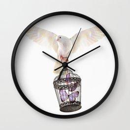Even doves have pride Wall Clock