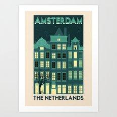 The Netherlands - Amsterdam Art Print
