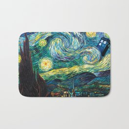 Tardis Starry Night Bath Mat
