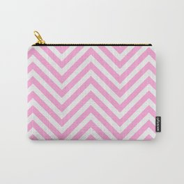 Pink Chevron Carry-All Pouch