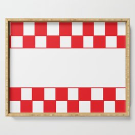 Red chess board Serving Tray