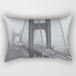 The Golden Gate bw Rectangular Pillow