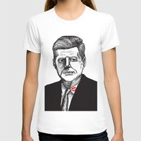 jfk T-shirts featuring JFK by Parker Nugent Illustration