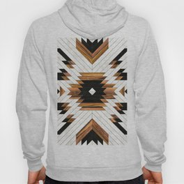 Urban Tribal Pattern 5 - Aztec - Concrete and Wood Hoody