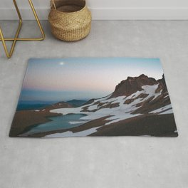 Alpine Lake Moonrise Rug