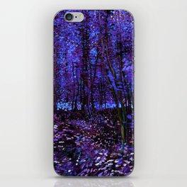 Van Gogh Trees & Underwood Purple Blue iPhone Skin