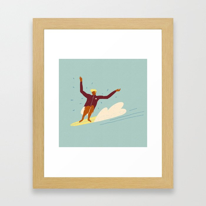 Surf buddy Framed Art Print